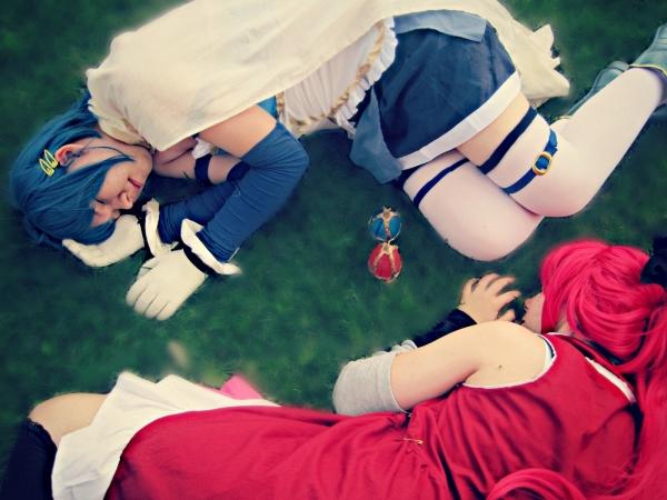 Puella Magi Madoka Magica Kyoko Sakura (and Sayaka Miki) Fotos Cosplay