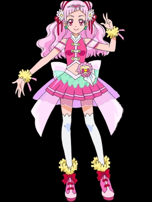 Cure Yell wig from Hugtto! Precure