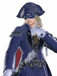 Blue Mage wig from Final Fantasy XIV